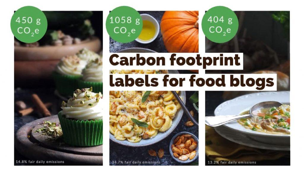Header for Elizabeth's Kitchen Diary carbon labels
