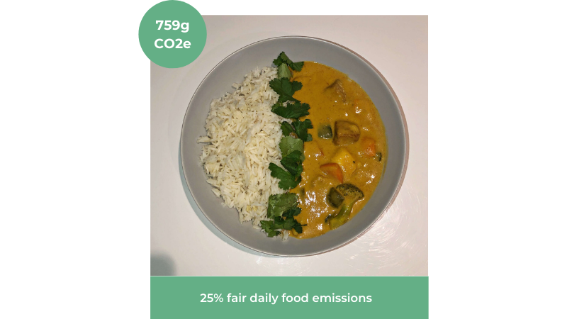 Image of easy vegan mango curry recipe from Voach