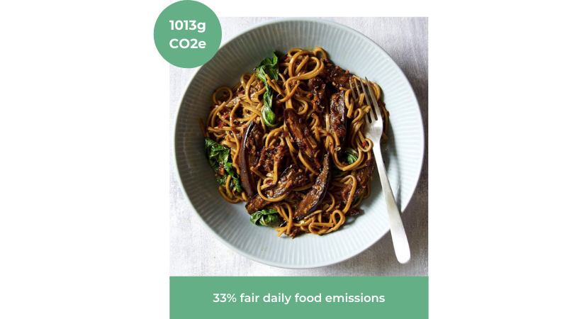 Image of Szechuan Pepper Aubergine Noodles from Root Kitchen UK