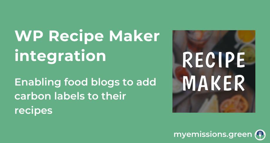 Carbon labels integration WP Recipe Maker