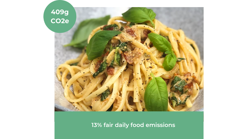 Image of Creamy Tomato Garlic & Spinach Linguine recipe from The Brook