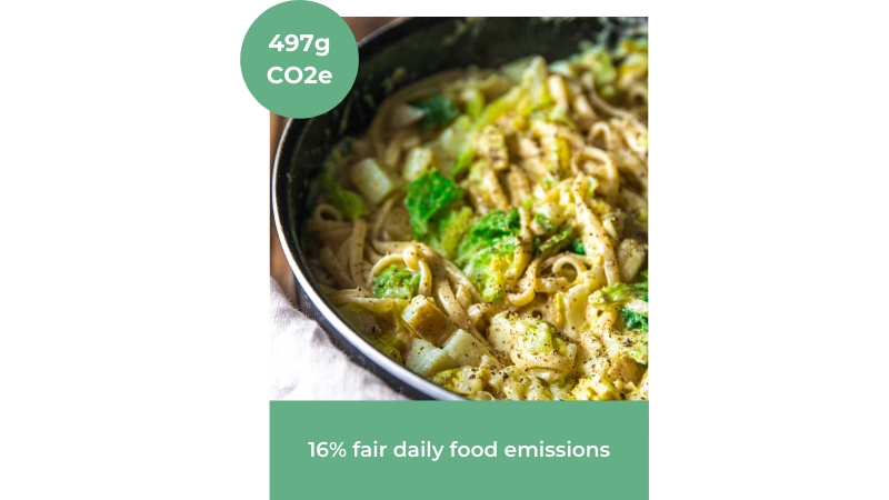 Image of Creamy Vegan Cabbage Pasta recipe from The Accidental Chef