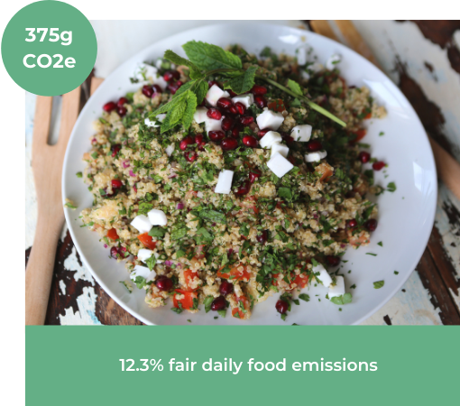 Image of Herby Quinoa Salad with Pomegranate and 'Feta' from Vegan Recipe Club