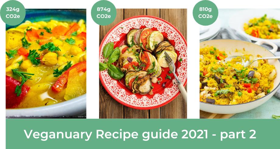 Veganuary Guide 2021 part 2 with vegan recipe ideas